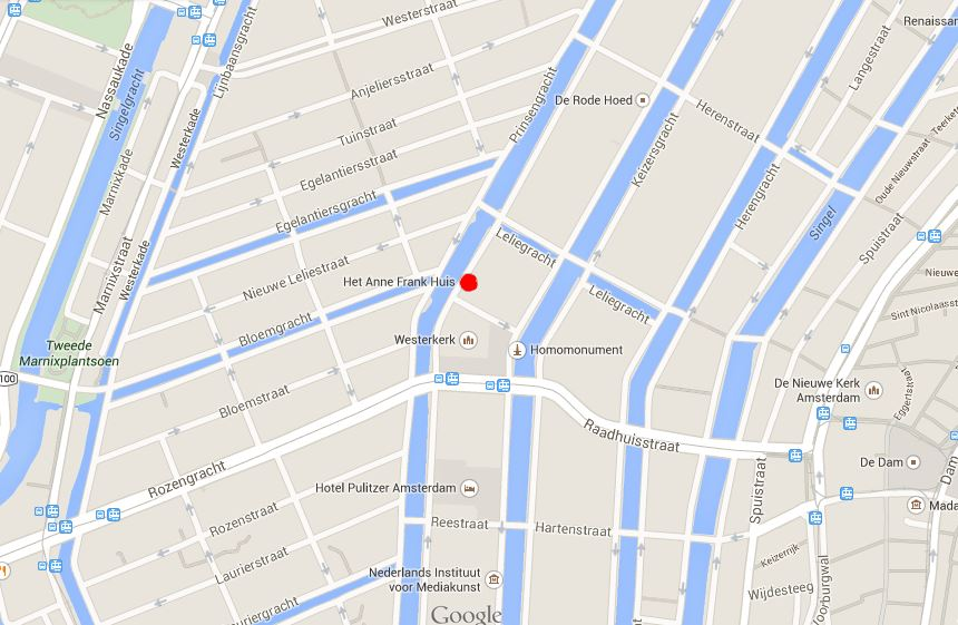 Anne Frank House Map Images