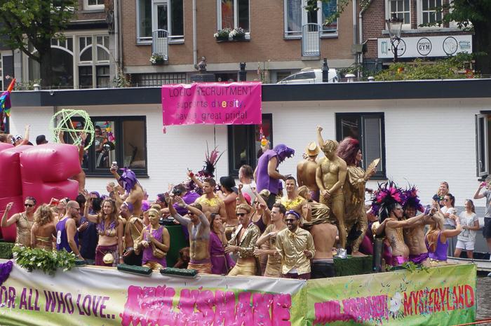 Gay Pride Canal Parade Amsterdam Gold