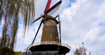 Working windmill in IJsselstein cornmill