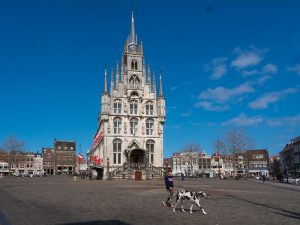 Daytrip to Gouda, Cheese, Culture and History. Great square around the Townhall.