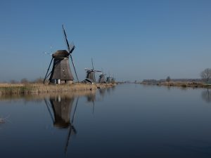 Where to see windmills in the Netherlands Go to Kinderdijk in the afternoon