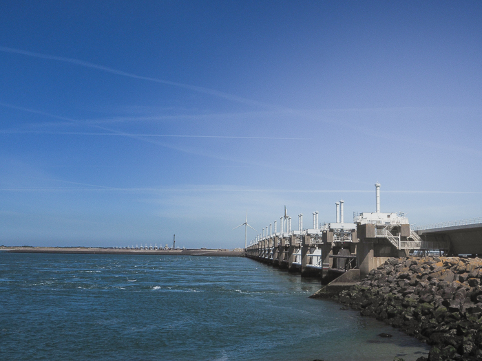 Water Museum in the Netherlands. Oosterscheldedam is a part of the Delta Project