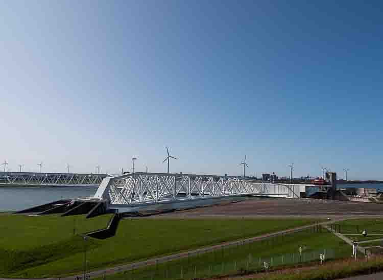 Rotterdam Beach and the Maeslantkering steel dam